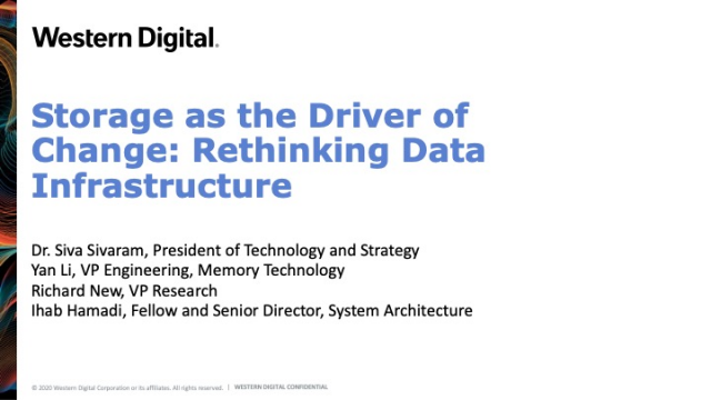 Storage as the Driver of Change: Rethinking Data Infrastructure