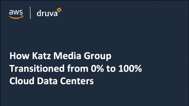 How Katz Media Group Transitioned from 0% to 100% Cloud Data Centers