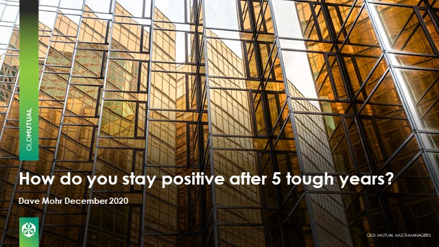 How do you stay positive after 5 tough years?