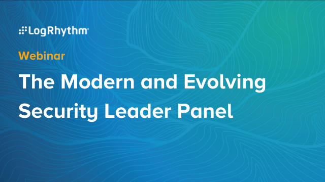 The Modern and Evolving Security Leader Panel