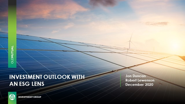 Investment Outlook with an ESG lens