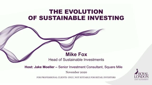 The evolution of sustainable investing