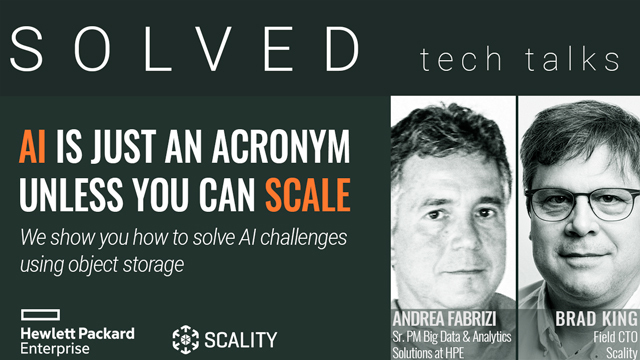 [EMEA Region] AI is Just an Acronym Unless You Can Scale