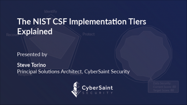 The NIST Cybersecurity Framework Implementation Tiers Simplified