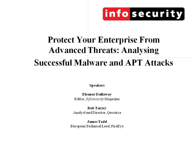 Protect Your Enterprise From Advanced Threats