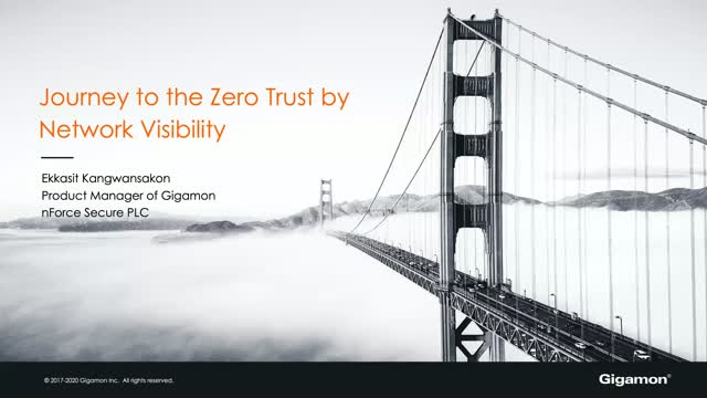 Journey to the Zero Trust by Network Visibility [TH]