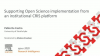 #PRCN2020: Supporting OS implementation from an institutional CRIS platform