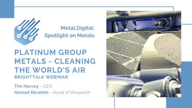 Platinum Group Metals - Cleaning the World's Air