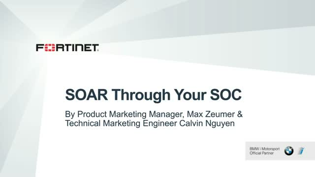 Get Ready to SOAR Through Your SOC
