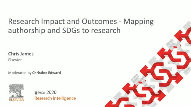 #PRCN2020: Research Impact and Outcomes - Mapping authorship and SDGs