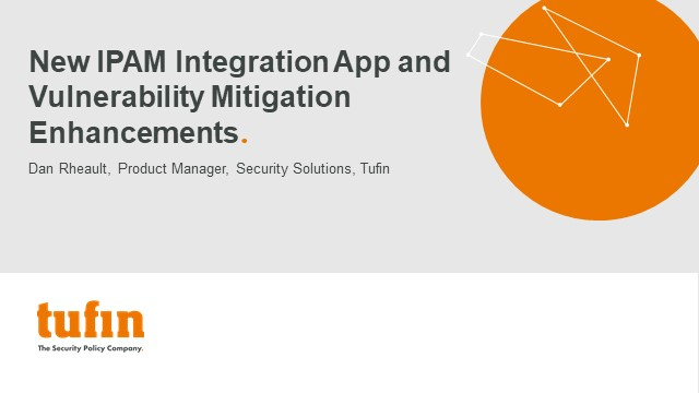 New IPAM Integration App and Vulnerability Mitigation Enhancements