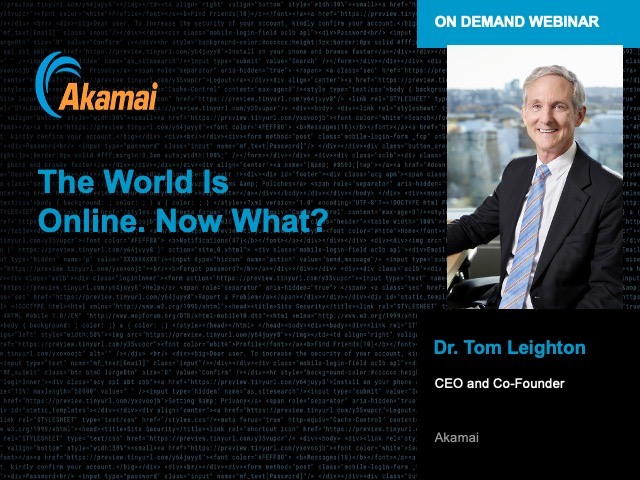 The World Is Online. Now What?