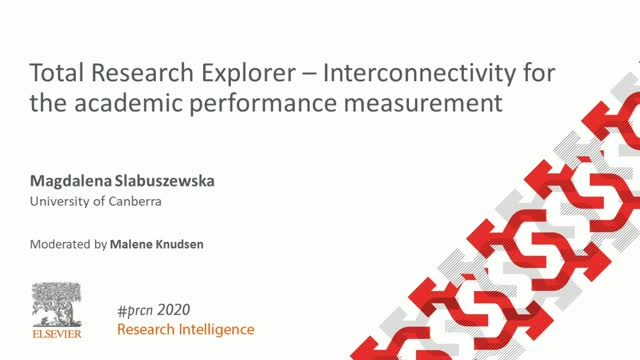 #PRCN2020:  Total Research Explorer – Interconnectivity for the academic perform