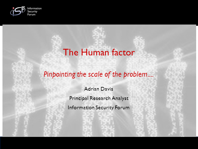 THE HUMAN FACTOR; Pinpoint The Scale Of The Problem
