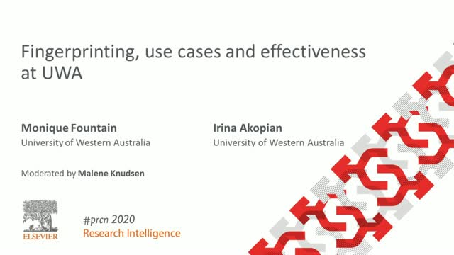 #PRCN2020: Fingerprinting, use cases and effectiveness at UWA