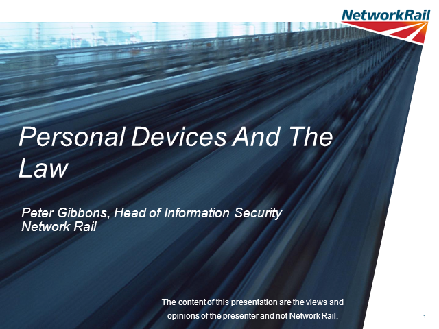 PERSONAL DEVICES: Personal Devices And The Law