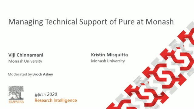 #PRCN2020:  Managing Technical Support of Pure at Monash