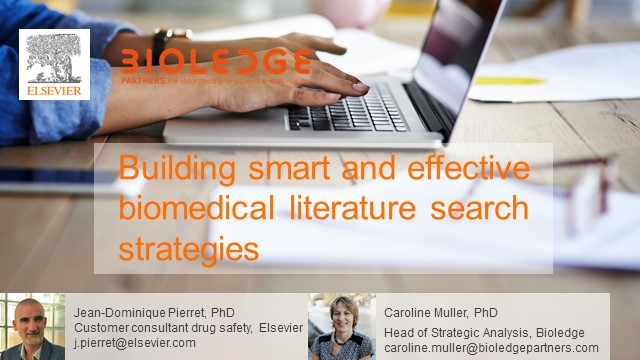 Building smart and effective biomedical literature search strategies