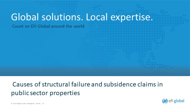 Causes of structural failure and subsidence claims in public sector properties