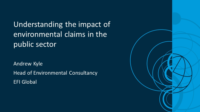 Understanding the impact of environmental claims in the public sector