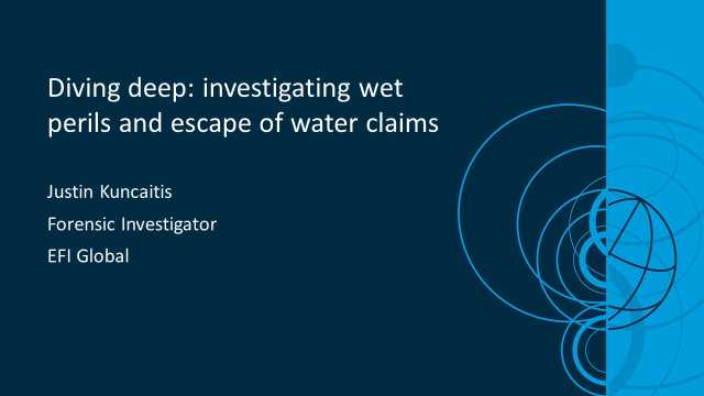 Diving deep: investigating wet perils and escape of water claims