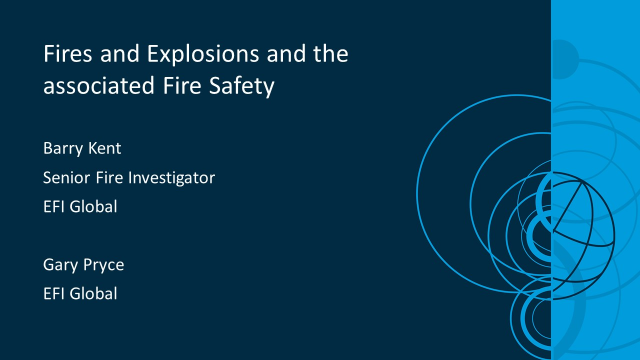 Fires and Explosions and the associated Fire Safety in the public sector