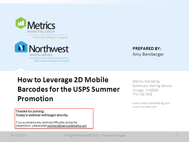 How to Leverage 2D Mobile Barcodes for the USPS Summer Promotion