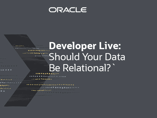 Panel Debate: Should Your Data Be Relational?