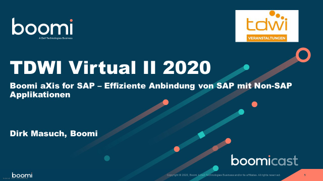 Boomi aXis for SAP – Effiziente Anbindung von SAP mit Non-SAP Applikationen