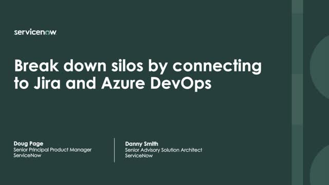 Break down silos by connecting to Jira and Azure DevOps