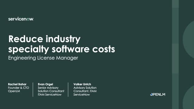 Reduce specialty software costs with Engineering License Manager