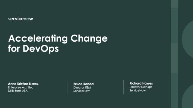 Accelerating change for DevOps