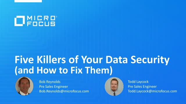 5 Killers of Your Data Security (and How to Fix Them)