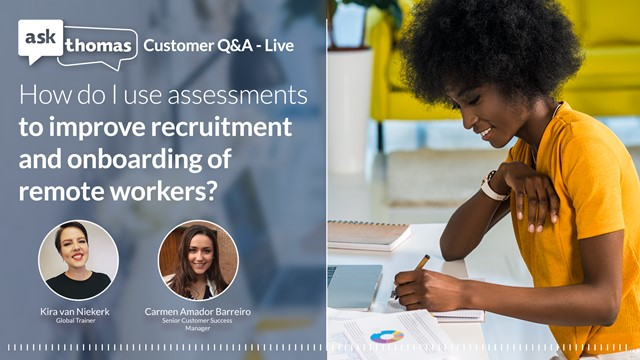 How do I use assessments to improve recruiting and onboarding remote workers?