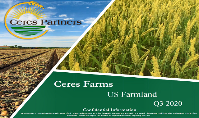 Ceres Partners – Identify, acquire and manage productive agricultural land