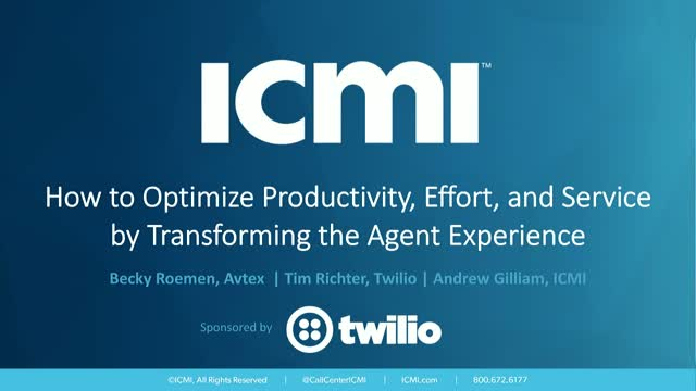 Optimize Productivity, Effort, and Service by Transforming Agent Experience