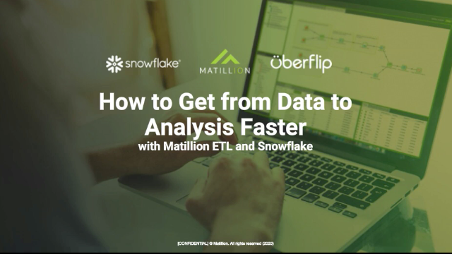 How to Get From Data to Analysis Faster