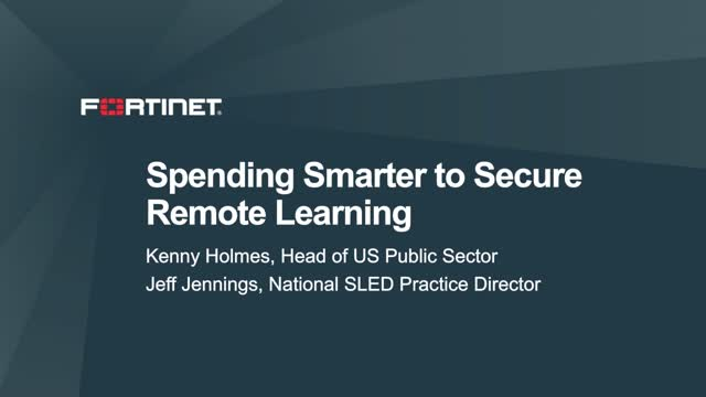Spending Smarter to Secure Remote Learning