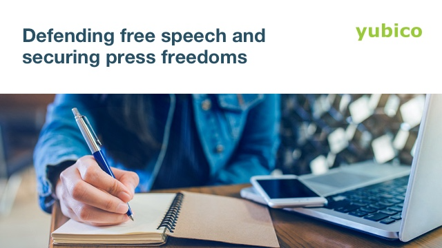 Defending free speech and securing press freedoms