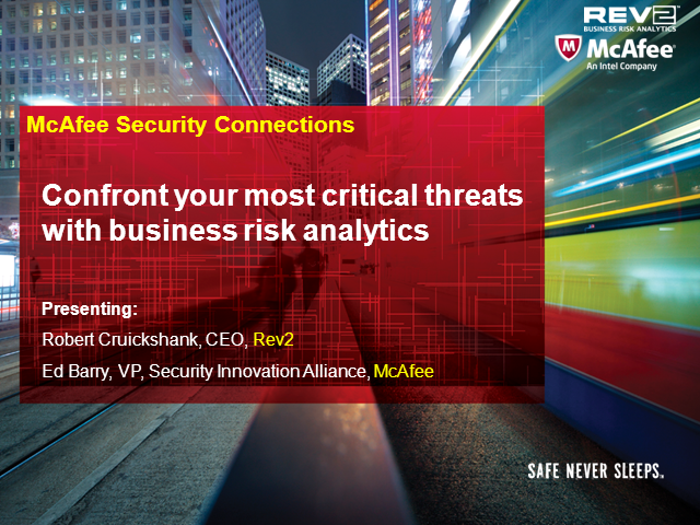 Confront your most critical threats with business risk analytics