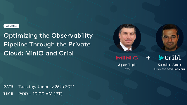 Optimizing the Observability Pipeline Through the Private Cloud: MinIO and Cribl