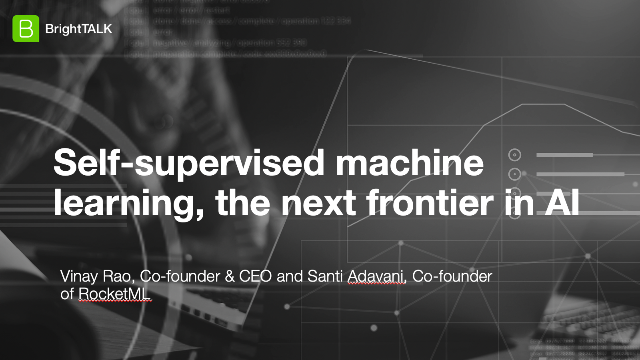 Self-supervised machine learning, the next frontier in AI