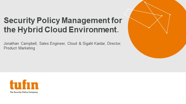 Security Policy Management for the Hybrid Cloud Environment