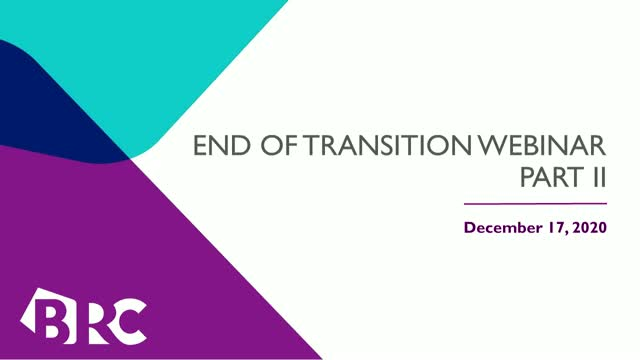 The End of Transition Period