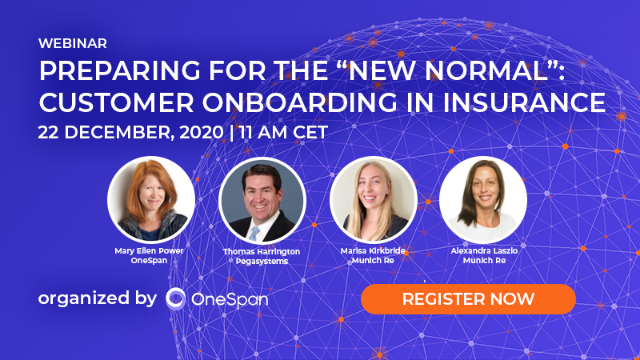"Preparing for the ""New normal"": Customer Onboarding in Insurance"