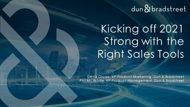 Kicking off 2021 Strong with the Right Sales Tools​