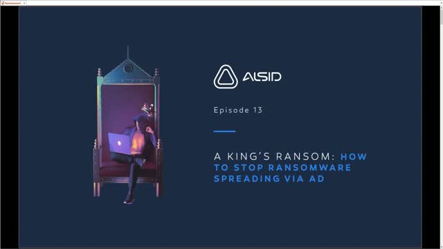 A King's Ransom: How to Stop Ransomware from Spreading Via AD