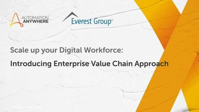 Scale Up Your Digital Workforce: Introducing the Enterprise Value Chain Approach