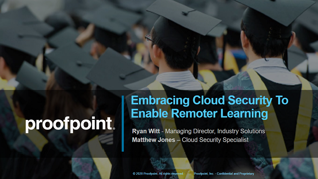 Embracing Cloud Security to Enable Remote Learning