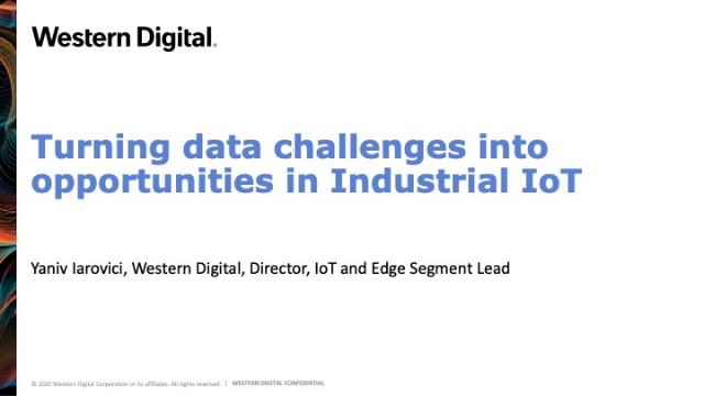 Turning data challenges into opportunities in Industrial IoT